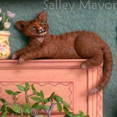 Wee Folk Studio: a selection of Salley Mavor's embroidered cats