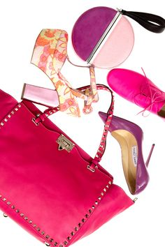 All things girly #fashion #saks #pink #accessories