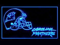 Carolina Panthers Helmet Cool Shop Neon Light Sign