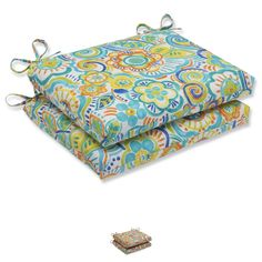 Pillow Perfect Outdoor Bronwood Squared Corners Seat Cushion