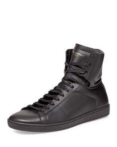 3238328ed0c Saint Laurent Men s Leather High-Top Sneakers