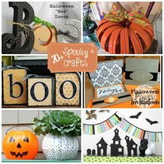 20+ Halloween Crafts & a link up