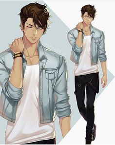 Anime Guys 4 images about boy on We Heart It - Garçon Anime Hot, Anime Sexy, Handsome Anime Guys, Cute Anime Guys, Anime Boys, Anime Boy Hair, Anime Style, Character Inspiration, Character Art