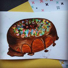 #скетч #акварель #рисую #рисуюакварелью #пончик #вкусняшки #scetch #foodsketch #watercolor #donut #school_dari_art #рисую_с_dari_art