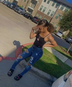 Aaliyah Outfits, Baddie Outfits Casual, Swag Outfits For Girls, Teenage Girl Outfits, Cute Swag Outfits, Cute Comfy Outfits, Teenager Outfits, Teen Fashion Outfits, Summer Outfits