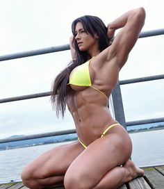 Cindy Landolt – Cindytraining.com :: Yellow Bikini at Lake Zurich