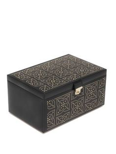 WOLF Marrakesh Medium Leather Jewelry Box wolf box Wolf
