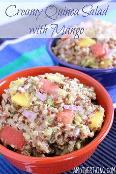 Creamy Quinoa Salad with Mango