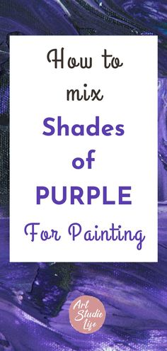 Discover what colors make purple and how to mix them to create different shades of purple color. Learn from color mixing chart diagrams, that demonstrate specific names of different colors that when mixed together will make the color purple. Including different shades of purple ranging from: warm, light, cool and dark purples as well as how to create muted purple colors! Purple Colour Shades, Purple Colors, Dark Purple, Color Mixing Chart, Color Mixing Guide, Watercolor Techniques, Painting Techniques, Different Colors, Watercolors
