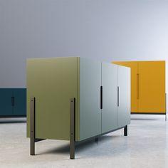 Novamobili Float Sideboard - Model for FStorm Mdf Furniture, Bedroom Furniture Design, Cabinet Furniture, Custom Furniture, Contemporary Furniture, Storage Design, Shelf Design, Cardboard Design, Furniture Inspiration