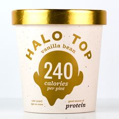 The scoop on our pints — HALO TOP Only 5g carbs for a half cup. Delish!