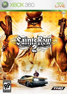 Saints Row 2, a great open world game. It has great cars and a pretty good storyline.  http://badassbutton.com/saintsrow