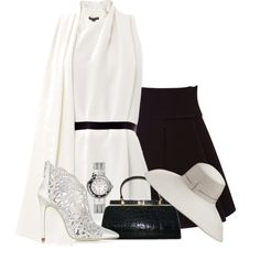 Black and White Asymmetric, created by cavell on Polyvore