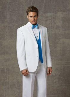2014  New Custom made white wedding tuxedos for mens 4 pieces suits (jacket+Pants+ Vest +tie)CM7213 $259.00