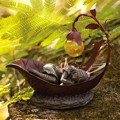 Fairy garden in other containers-porcelein-maybe copper/brass rectangle