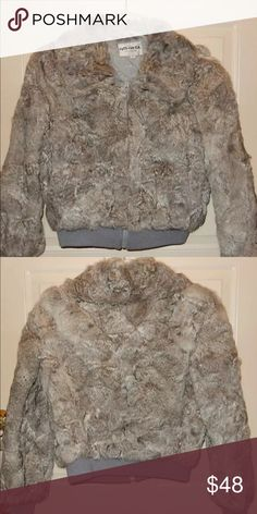 Authentic rabbit fur coat Beautiful and warm rabbit fur coat, woman's small, only worn a few times, great condition Jackets & Coats
