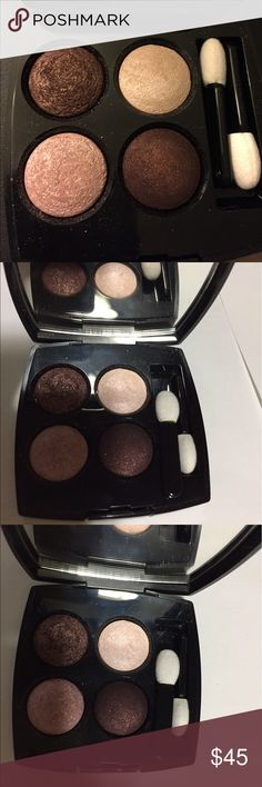 Chanel quadra eyeshadow. TENTATION CUIVREE Please see description on photos.  I have too many makeup and I rarely use them so I have to sell some. Like new condition. No original box or pouch. Bought originally from Nordstrom. CHANEL Makeup Eyeshadow