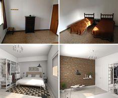 Glancing-Eyer-modelado-3d-diseño-de-interiories_antes-y-despues_b Estilo Interior, Interior Styling, 3d, Modeling, Interiors, Interior Decorating