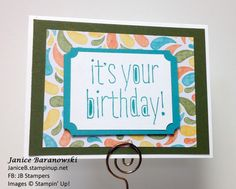 Birthday Bash #2-more birthday cards with one of my favorite stamp sets, Big News. - #JBStampers