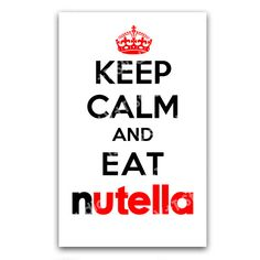 Items similar to clever humorous card keep calm and eat Nutella Propaganda (DIGITAL) on Etsy - Clever and humorous card to give your friends and colleagues who spread the creamy chocolate hazeln - Words Quotes, Me Quotes, Sayings, Keep Calm Quotes, Quotes To Live By, Nutella Quotes, Funny Cards, Humor, Tricks