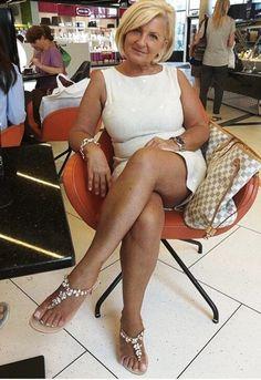 Mature blonde fashion granny