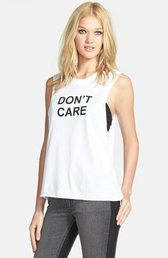 BMLA 'Don't Care' Muscle Tank available at #Nordstrom