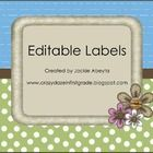 Decorate your room with these editable labels! All labels are made using a brown, green, blue, and pink color scheme.   Included are: -20 editable ...