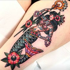 Tattooed Mermaid Tattoo | Tattoo Ideas and Inspiration
