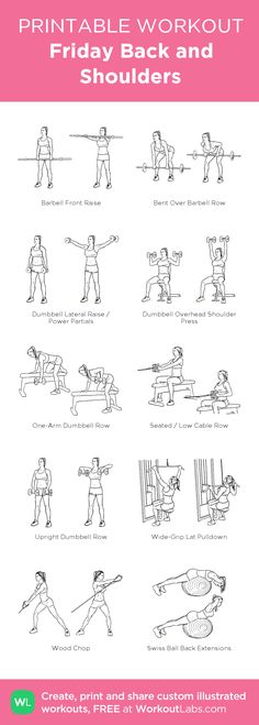 4 Back Workout Plan To Help Sculpt Sexy Back & Shoulder – Lasting Training dot Com Shoulder Workout Women, Back And Shoulder Workout, Back Workout Women, Back And Bicep Workout, Back Excersises For Women, Gym Back Workout, Fitness Workouts, At Home Workouts, Yoga Routine