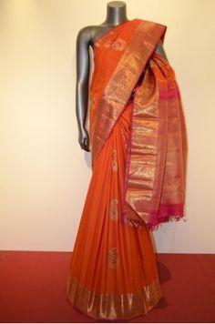 Bridal Kanjeevaram Silk Saree Product Code: AC210749 Price: ₹26,480  #Wedding #Kanchipuram #Kanjivaram #Kanjeevaram #Designersarees #Ethnicwear #Exclusivedesign #India # Saree fashion #Sari #Beautiful Saree #wedding #bridalwear #indianwedding #designer #bridal #desi #indianfashion #partywear #ethnic #sarees #onlineshopping Sarees #indianbride #indianwear #Saree love #uk #usa # canada #traditional #gorgeous #bride #elegant
