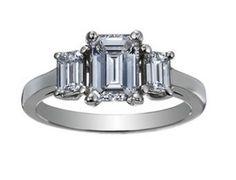 Custom Designed Three Stone Emerald Ring