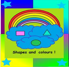 Shapes and colours-  From the first moment your little one creates a loving picture for you, and the first time she saw a magnificent rainbow with glorious colours, they simply immediately loved the world. The theme Shapes and colours is a very lovely coloured theme with 45 pages of fun. Here's a few examples: 14 individual A4 posters of colours in a unique shape !, individual shapes posters and 18 amazing worksheets, all designed out of shapes !