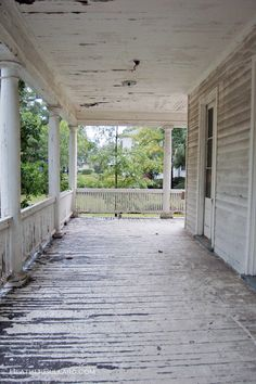 Old porch in the deep south. Some say in need of repair and paint. I say old and chippy tells a story.