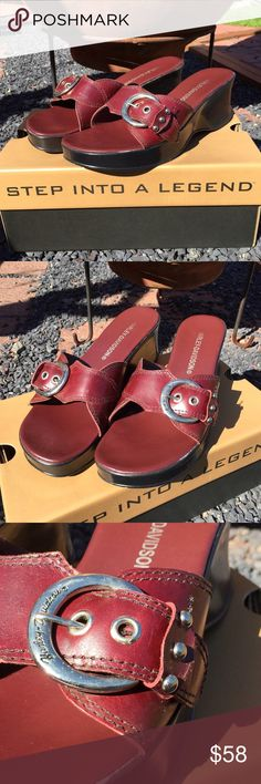 Harley Davidson Buckle Slide Sandals Size 9 Size 9. Only worn a few times. Be sure to view the other items in our closet. We offer  women's, Mens and kids items in a variety of sizes. Bundle and save!! Thank you for viewing our item!! Harley-Davidson Shoes Sandals