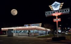 Steak 'n Shake on Route 66 in Springfield Median Household Income, Cool Neon Signs, Springfield Illinois, Thing 1, Route 66, Cool Photos, Amazing Photos, Steak, Survival