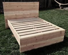 Custom Contemporary Wood Bed Frame