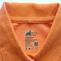 metki tekstylne, rozmiarówki