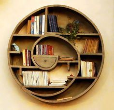 Creative rounded bookshelf. Shared by http://www.bookcoverideas.com