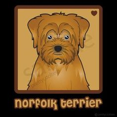 Norfolk Terrier Cartoon Heart T-Shirt