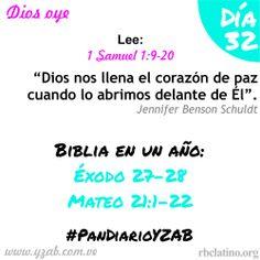 #PanDiarioYZAB Día 32: Dios oye Biblia en un año: Éxodo 27–28 y Mateo 21:1-22 Más detalles: http://wp.me/pDTtq-ps  #YZAB #EVOLUCIÓN #Espiritualidad #EstilismoEspiritual #soul #faith #believe #god #pray #prayer #worship #love #peace #happiness