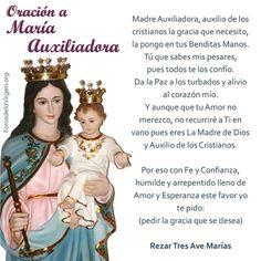 #ORACIÓN A MARÍA AUXILIADORA     ORACIONES A MARÍA AUXILIADORA  http://forosdelavirgen.org/26468/oraciones-a-maria-auxiliadora/