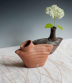 Catherine White bottle vases
