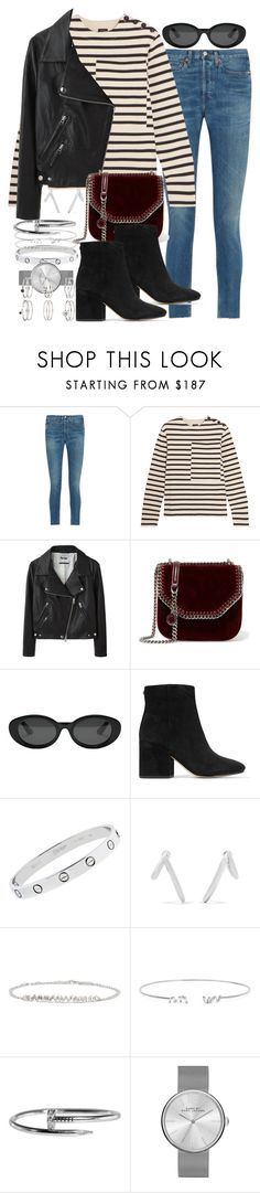 """""""Sin título #4379"""" by hellomissapple ❤ liked on Polyvore featuring RE/DONE, Joseph, Acne Studios, STELLA McCARTNEY, Elizabeth and James, Sam Edelman, Cartier, Jennifer Fisher, Suzanne Kalan and Marc by Marc Jacobs"""