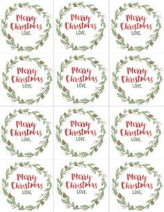 Christmas gift labels 30 page to print