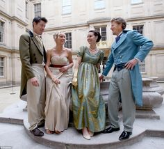 Costumed guests pictured left to right - Simon Bourne, Rebecca Markillie, Chrissie Sheerstone, and Bruce Goodwin