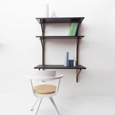 Kaari Wall Shelf with Desk by Artek