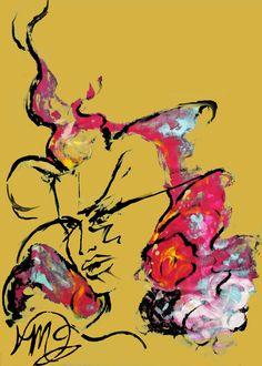Déesse de la fertilité Artist, Painting, Design, Painting Art, Paintings, Painted Canvas, Drawings, Artists