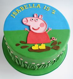 peppa pig birthday cake - Google Search More