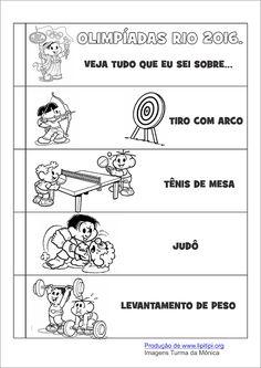Atividade Olimpíadas Rio 2016 Fundamental I Pesquisa leitura e escrita