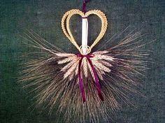 """Wheat Weaving by Marje Shook, title """"Wedding Mordiford"""""""